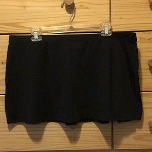 XL Black Anne Cole Swim Skirt